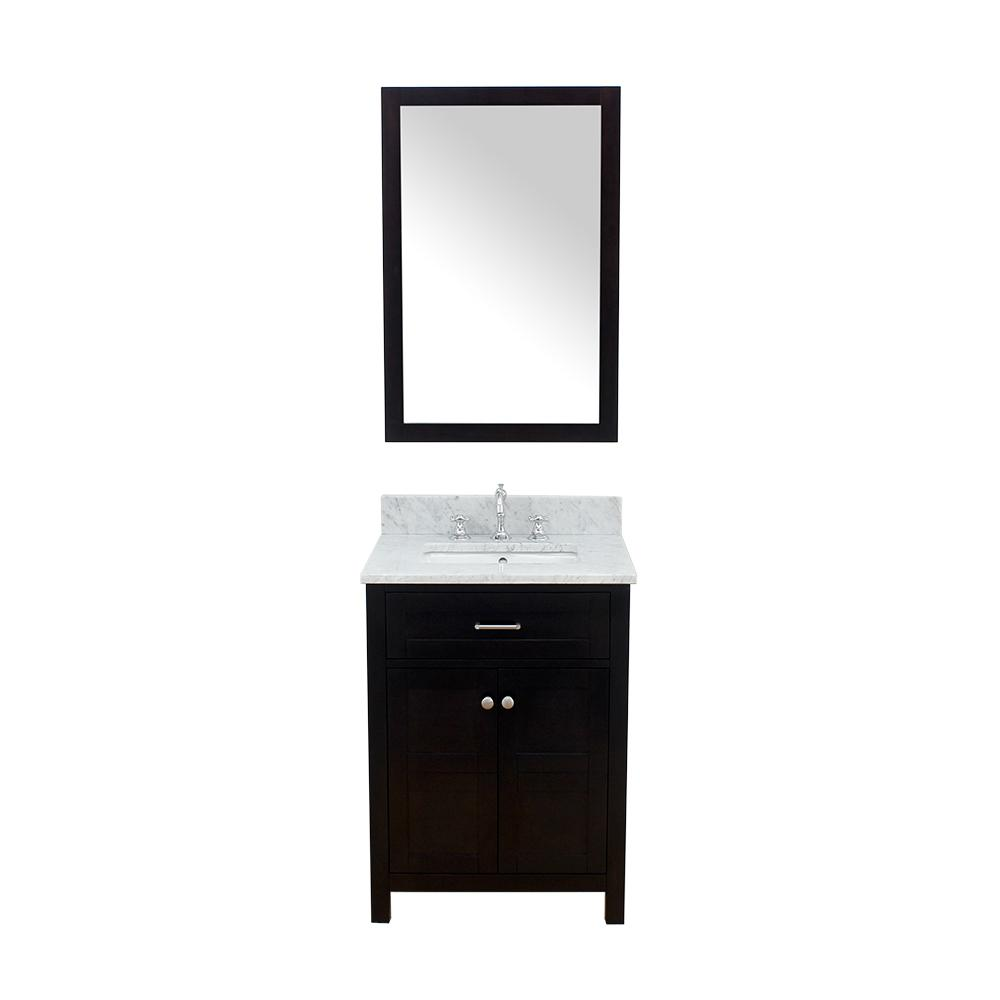 Bath Vanity In Espresso With Marble