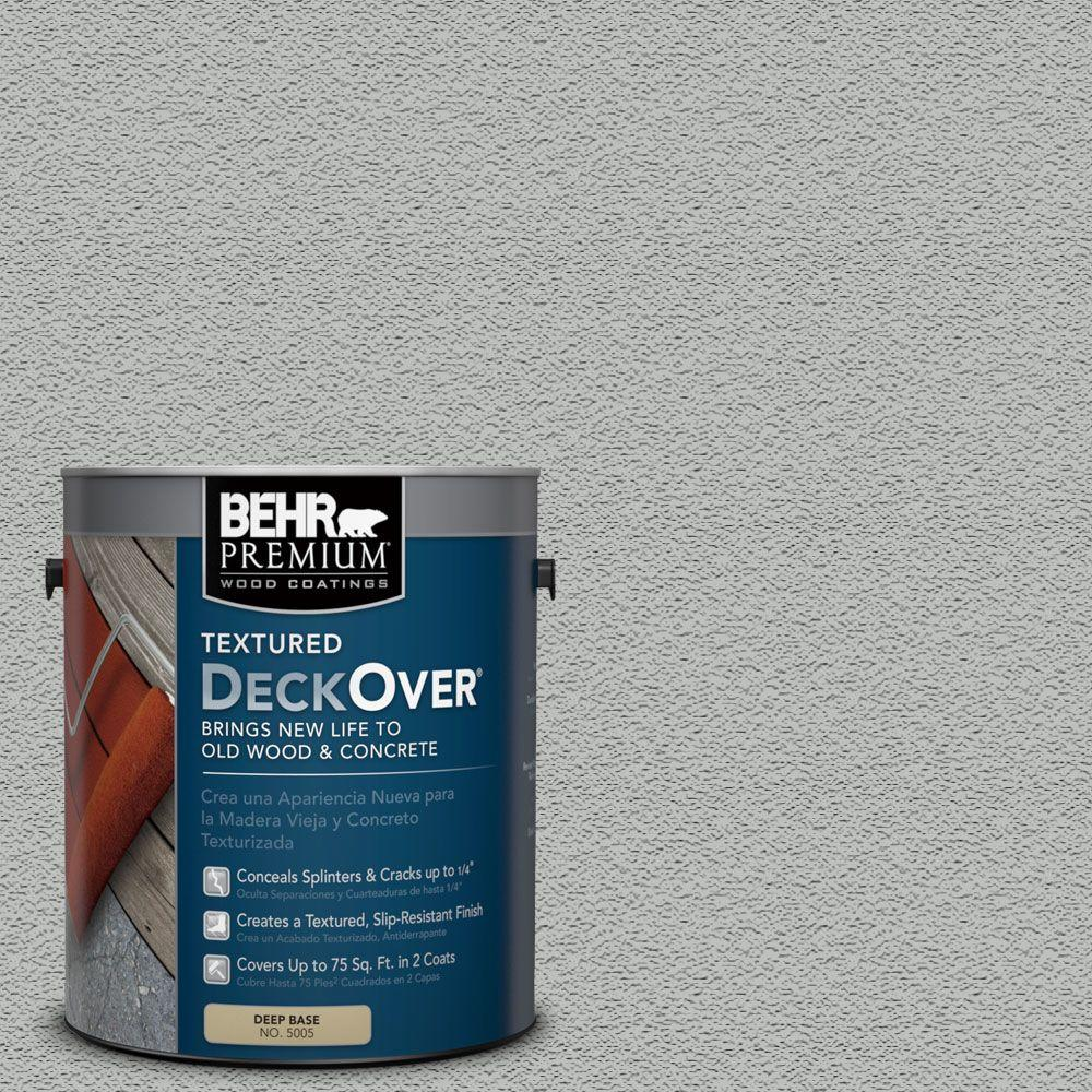 BEHR Premium Textured DeckOver 1 gal. #SC-365 Cape Cod Gray Textured Solid Color Exterior Wood and Concrete Coating