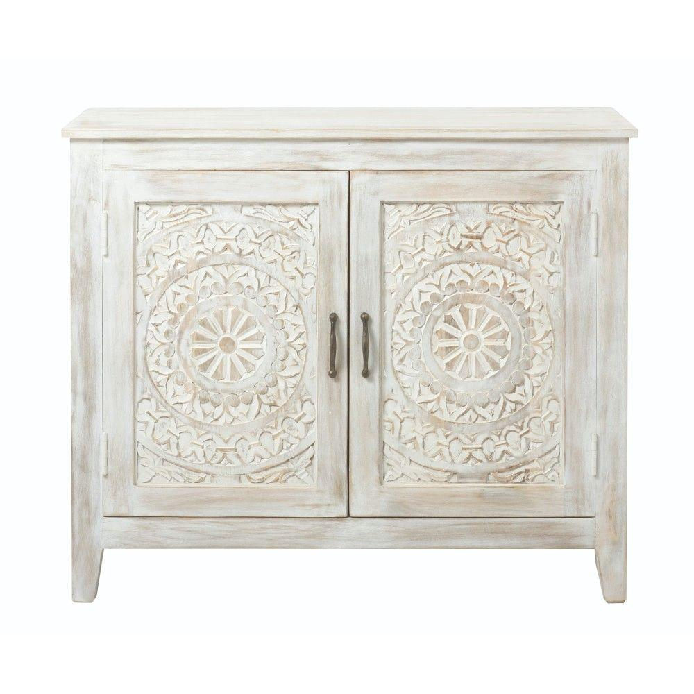 Home Decorators Collection Chennai White Wash Nightstand