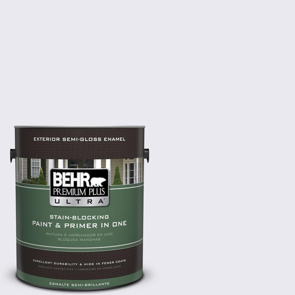 BEHR Premium Plus Ultra 1-gal. #640E-1 Silver Chalice Semi-Gloss Enamel Exterior Paint