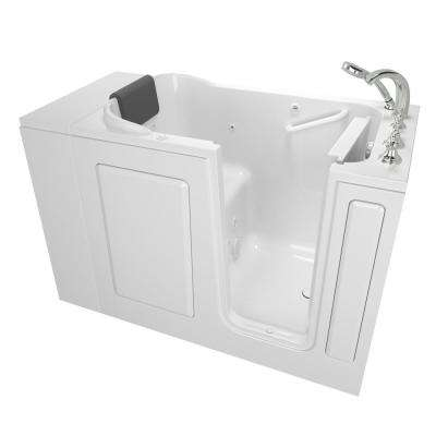 Gelcoat Premium Series 48 in. x 28 in. Right Hand Walk-In Whirlpool Bathtub in White