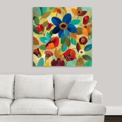 """36 in. x 36 in. """"Summer Floral II"""" by  Silvia Vassileva Canvas Wall Art"""