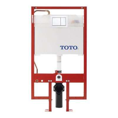 In-Wall 0.9/1.6 GPF Dual Flush Toilet Tank Only in Cotton White