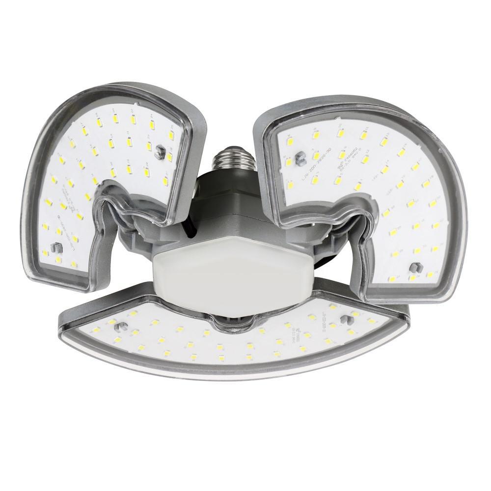 250-Watt Equivalent Oversize Extra Bright Adjustable Panels Garage Ceiling Shop LED Light Bulb Daylight 5000K (6-Pack)