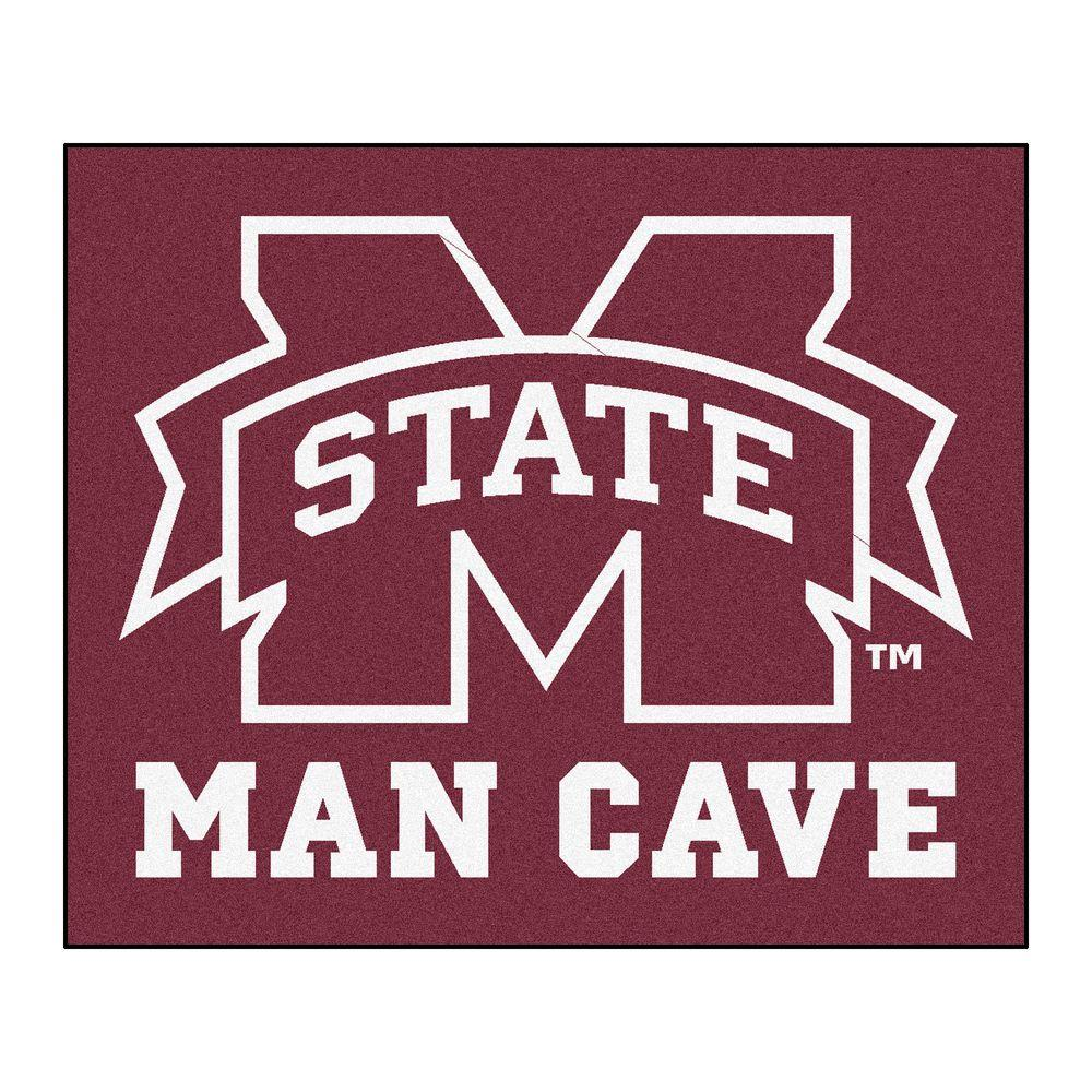 man cave area rugs small basement fanmats mississippi state university red man cave ft area rug