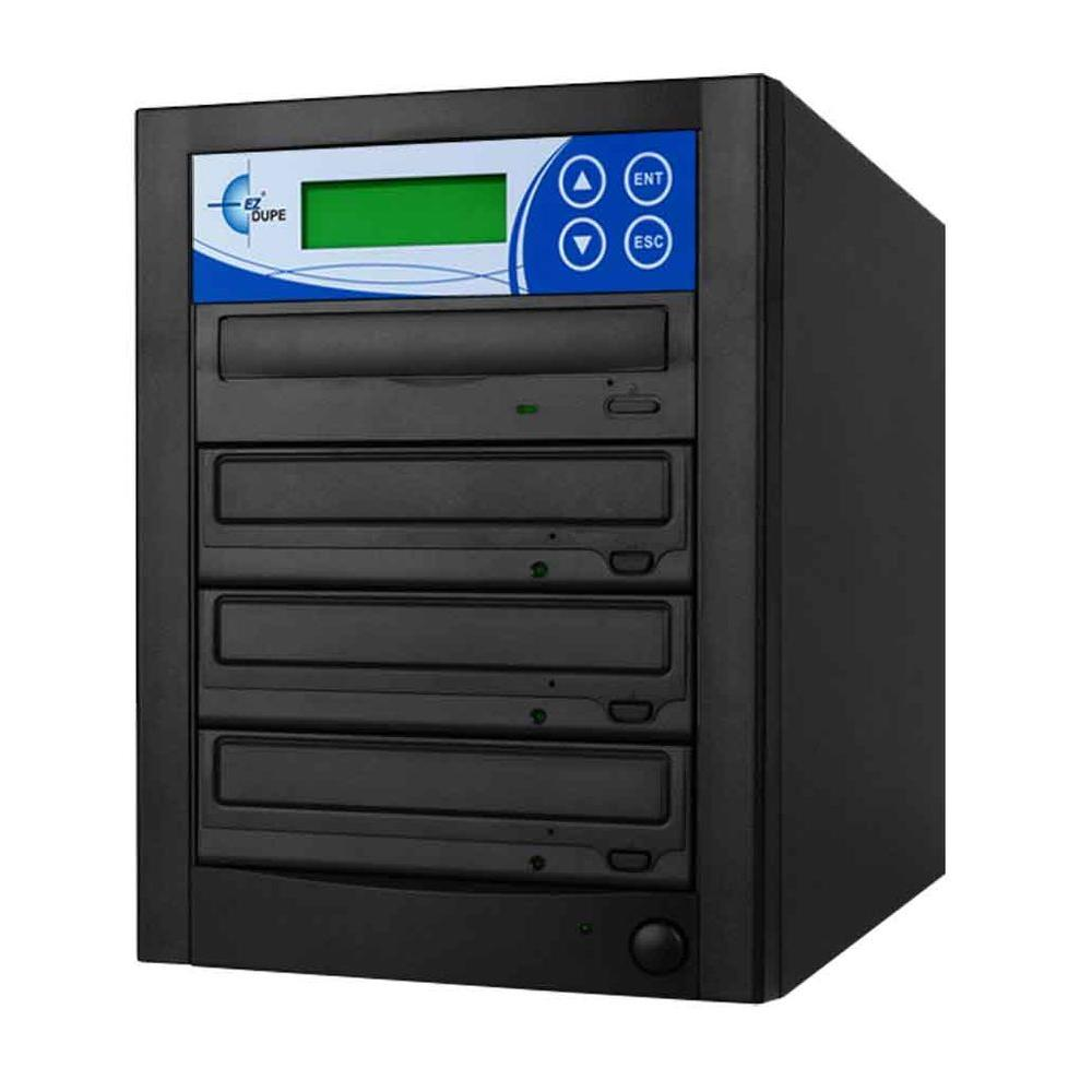 3 Copy DVD/CD Duplicator Features 24x DVD Drives - Black