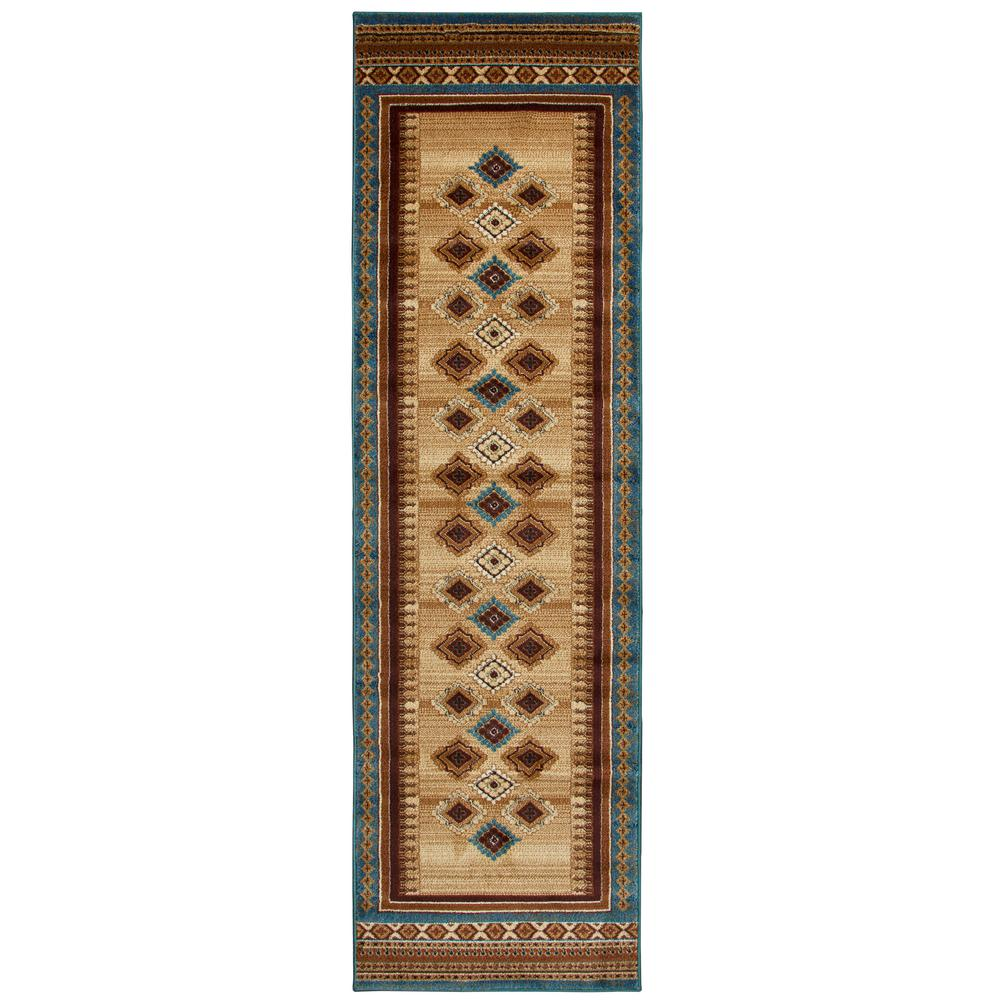 Rizzy Home Bellevue Blue 2 Ft 3 In X 7 Runner