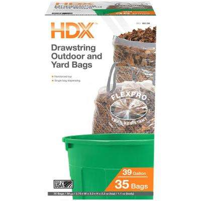 39 Gal. Clear Proflex DS Outdoor and Lawn Bags (35-Count)