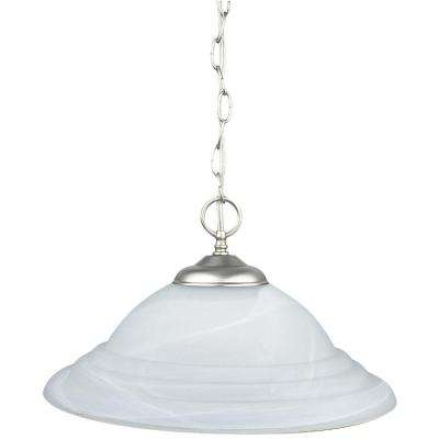 Ultra 15.63 in. 1-Light Satin Nickel Pendant