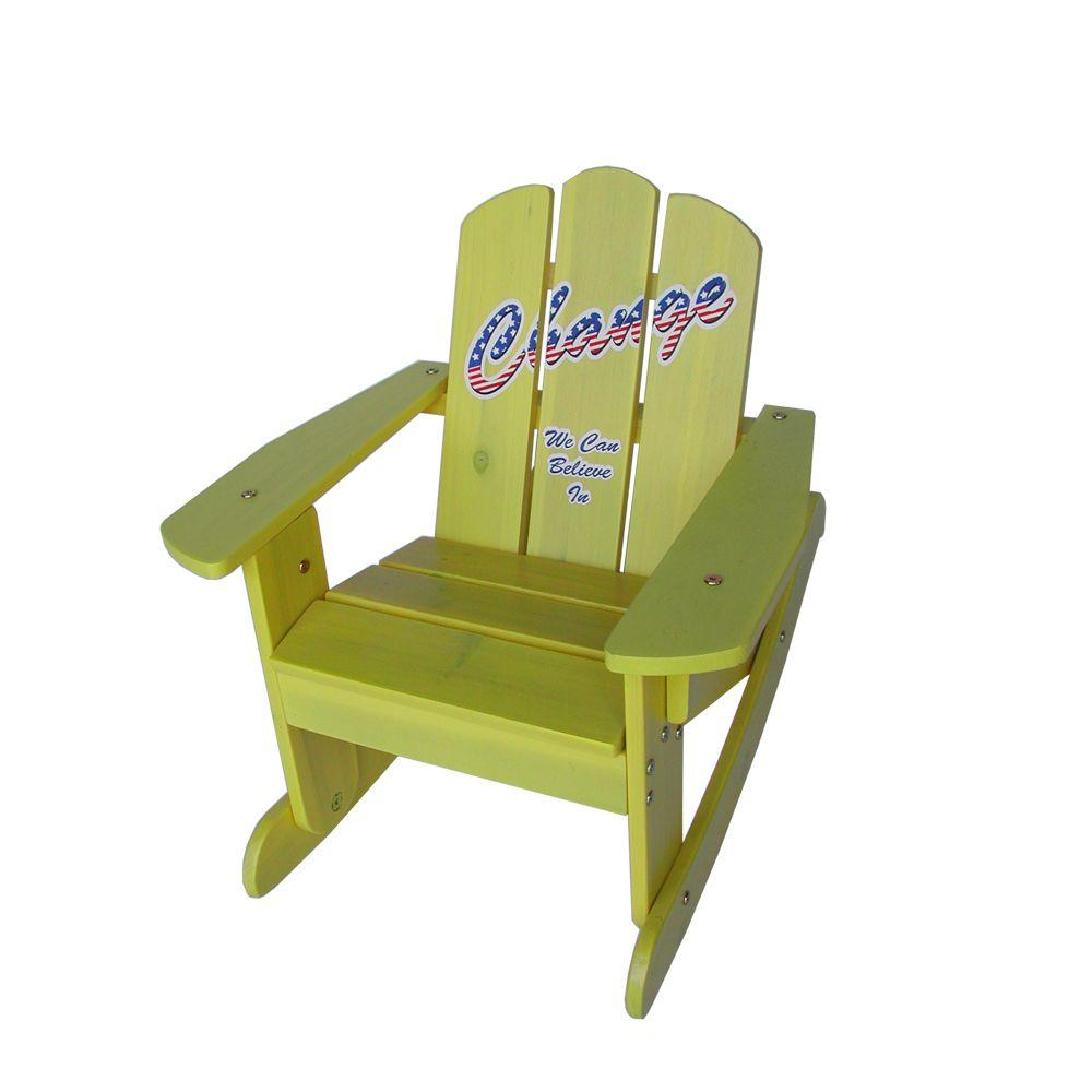 Lohasrus Kids Yellow Rocking Chair