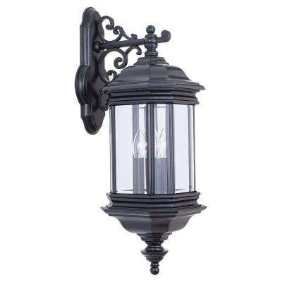 Hill Gate 3-Light Outdoor Black Wall Mount Fixture