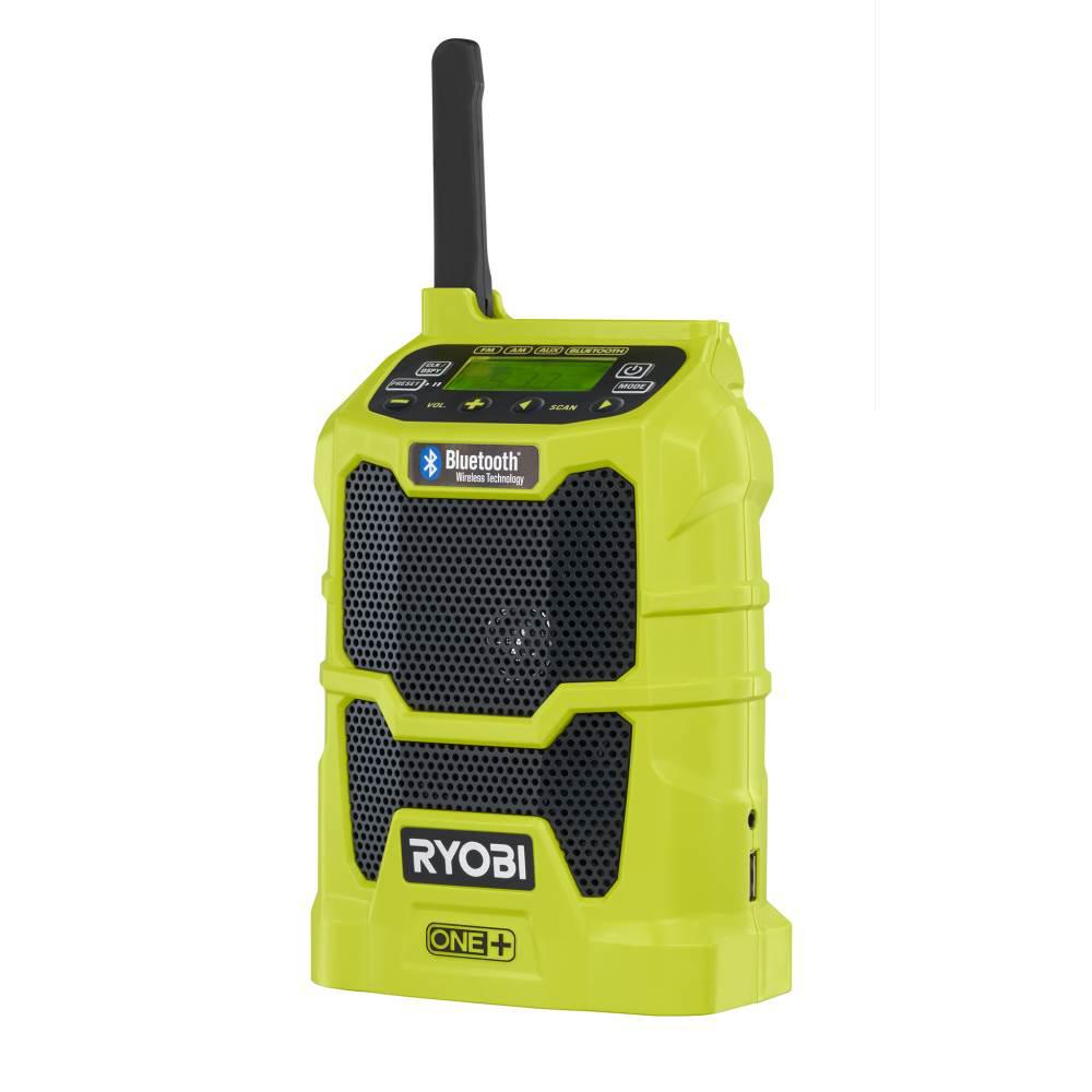 RYOBI 18-Volt ONE+ Cordless Compact Radio with Bluetooth Wireless Technology (Tool-Only)