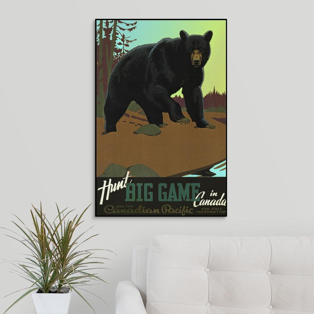 Greatbigcanvas Hunt Big Game In Canada Vintage Travel