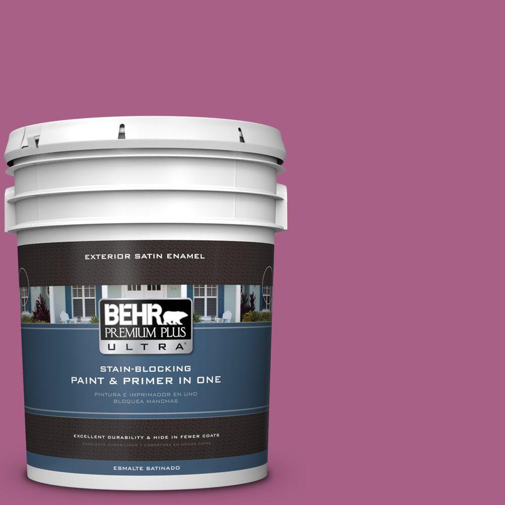 BEHR Premium Plus Ultra 5-gal. #690B-6 Wild Mulberry Satin Enamel Exterior Paint