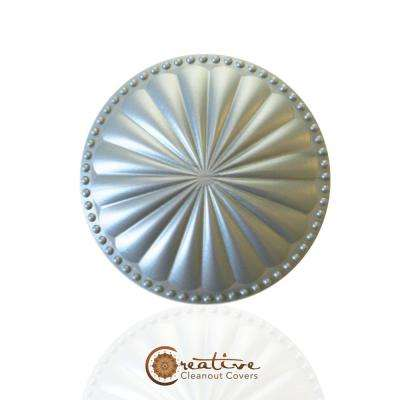 Laguna Dome Seaside Silver 5.25 in. x 5.25 in. Cleanout Cover