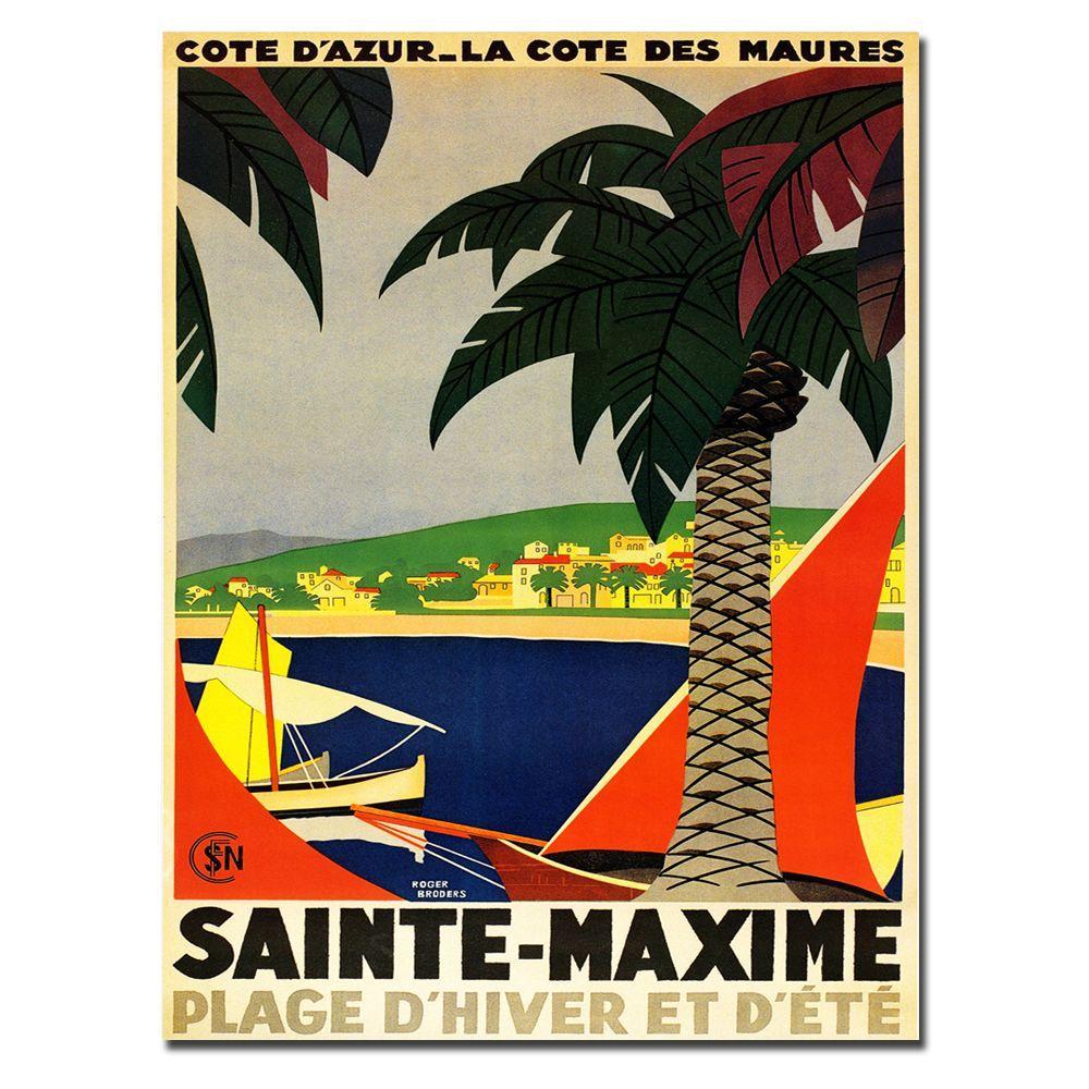 Trademark Fine Art 24 in. x 32 in. Sainte Maxime Canvas Art