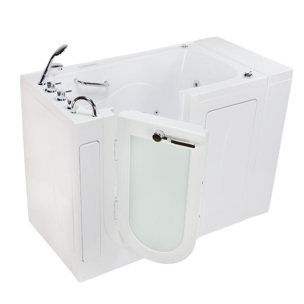 52 in. Malibu Premium Acrylic Walk-In Whirlpool and Air Tub in