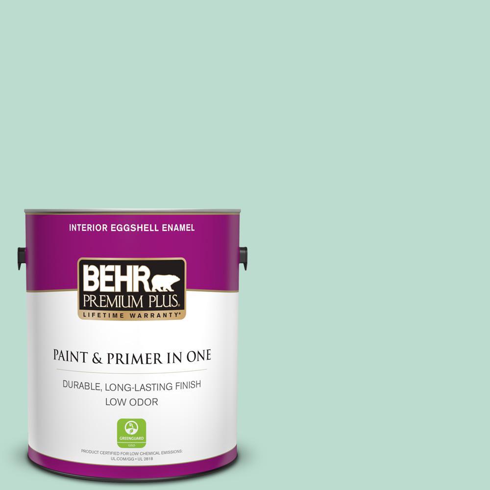 BEHR Premium Plus 1 gal. #M420-3 Mirador Eggshell Enamel Low Odor Interior Paint and Primer in One
