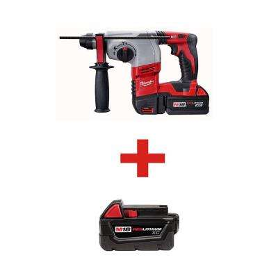 18-Volt Lithium-Ion 7/8 in. Cordless SDS-Plus Rotary Hammer Kit with 3.0Ah Battery