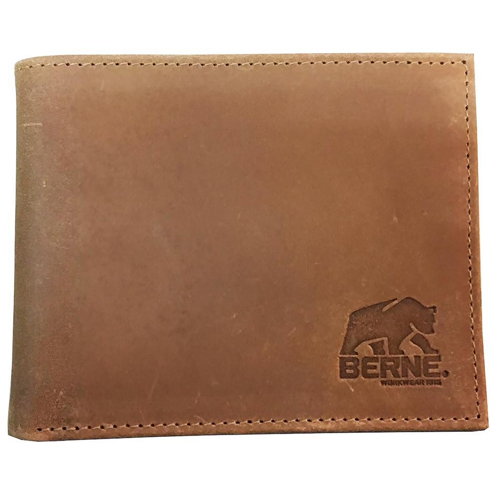 14ecacbc4730 Berne Unisex Genuine Leather Checkbook