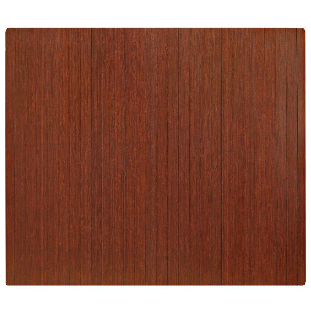 Anji Mountain Standard Dark Brown Mahogany 48 In X 60 In