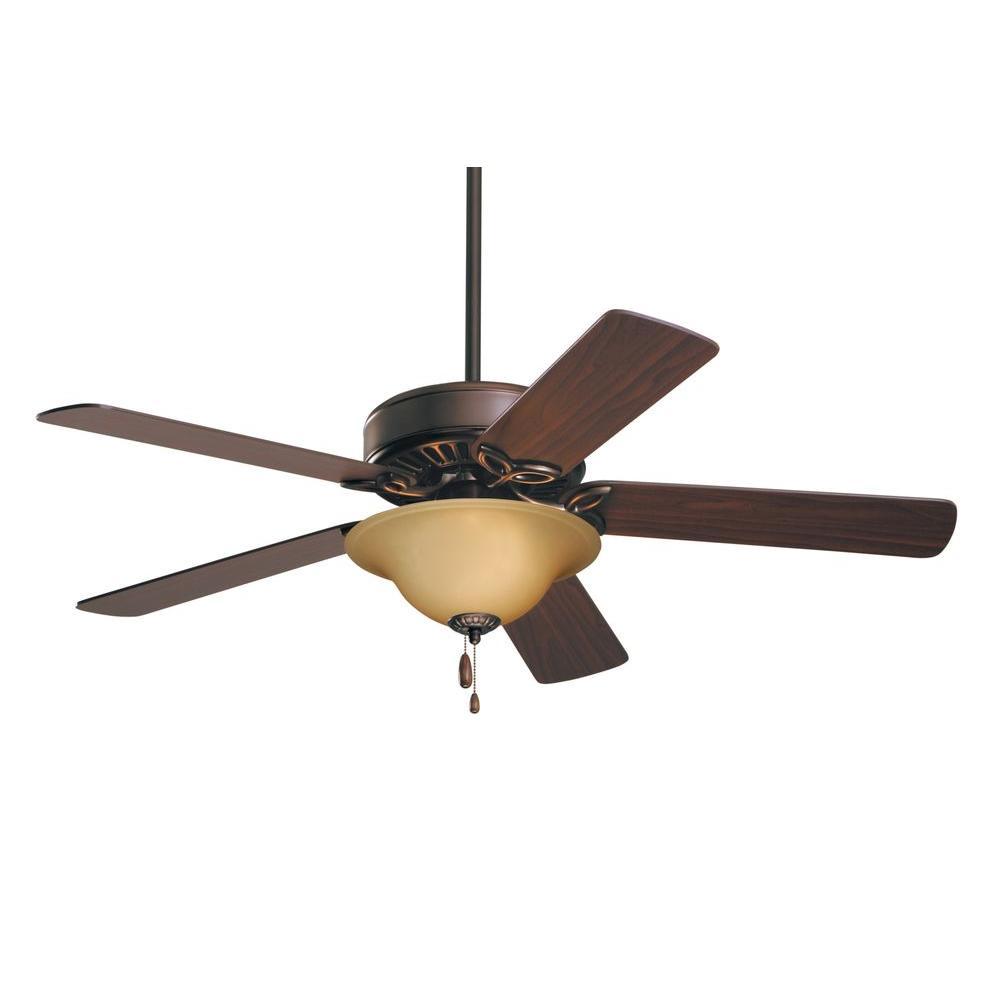Illumine 3-Light 50 in. Oil Rubbed Bronze Housing Ceiling Fan with Dark Cherry/Medium Oak Blades