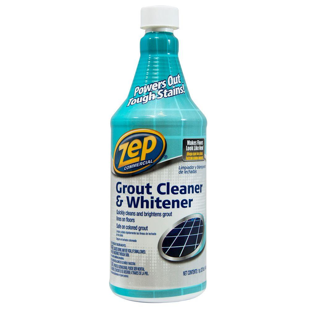 ZEP Fl Oz Grout Cleaner And WhitenerZU The Home Depot - How do i clean the grout on my tile floor