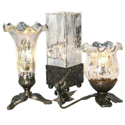 8.25 in. Silver Studio Art Glass Accent Lamp (Set of 3)