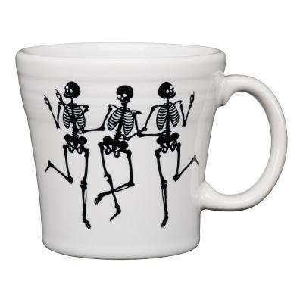 White Trio of Skeletons 15 oz. Ceramic Tapered Mug