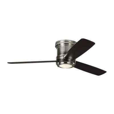 TOB by Thomas O'Brien Aerotour Semi-Flush 56 in. Integrated LED Polished Nickel Ceiling Fan with Light Kit
