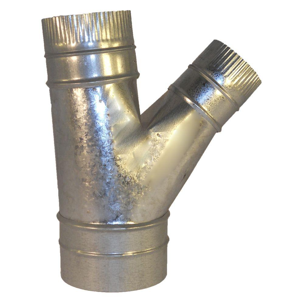 Speedi-Products 5 in. x 4 in. x 3 in. Wye Branch HVAC Duct Fitting