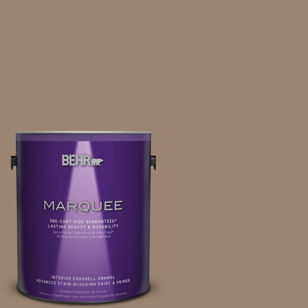 1 gal. #MQ2-48 Sturdy Brown One-Coat Hide Eggshell Enamel Interior Paint