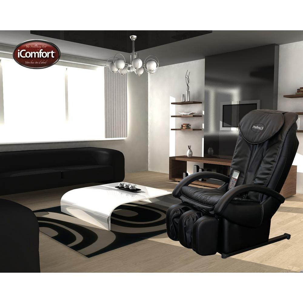 iComfort Black Faux Leather Reclining Massage Chair-IC1114 - The Home Depot  sc 1 st  The Home Depot & iComfort Black Faux Leather Reclining Massage Chair-IC1114 - The ... islam-shia.org