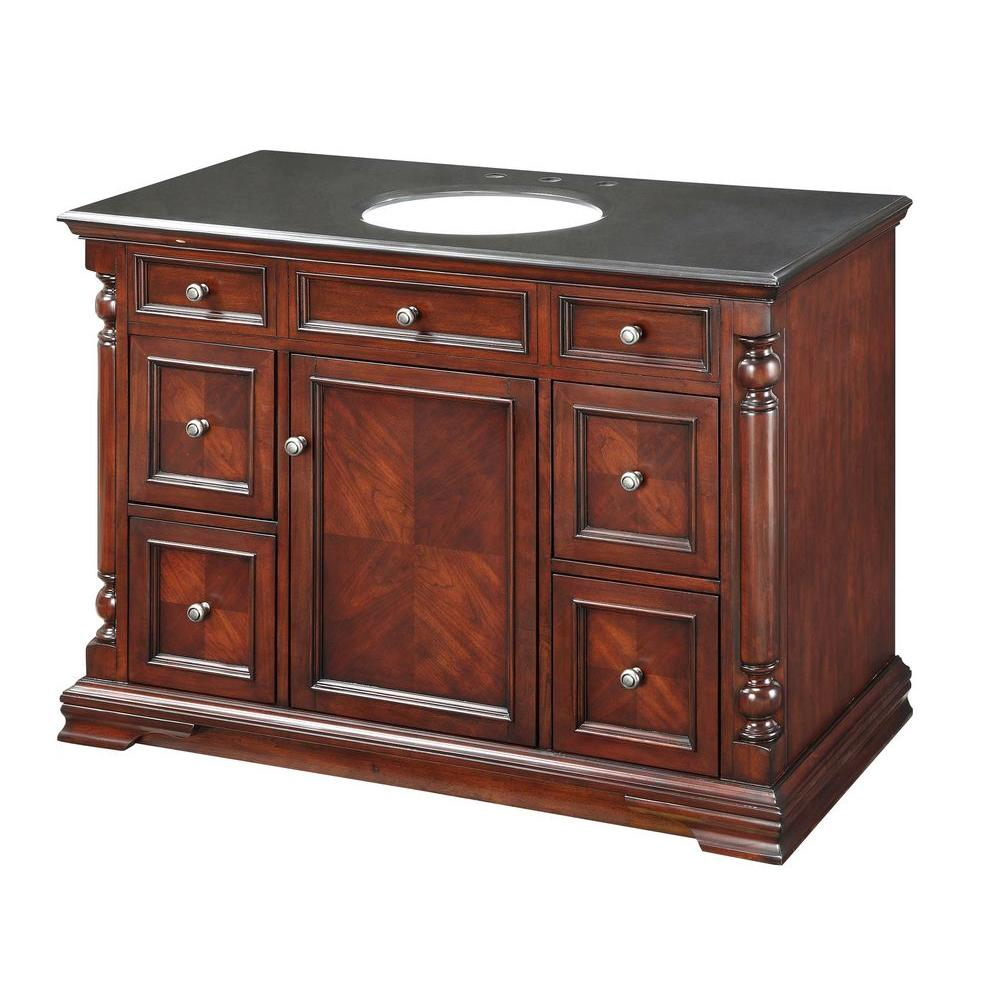 Pegasus 48 in. Vanity Cabinet Only in Classic Cherry
