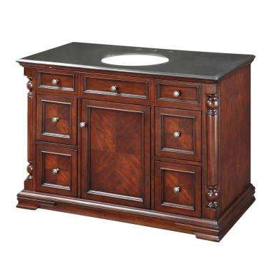 48 in. Vanity Cabinet Only in Classic Cherry