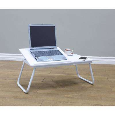 24 in. L White Folding Table