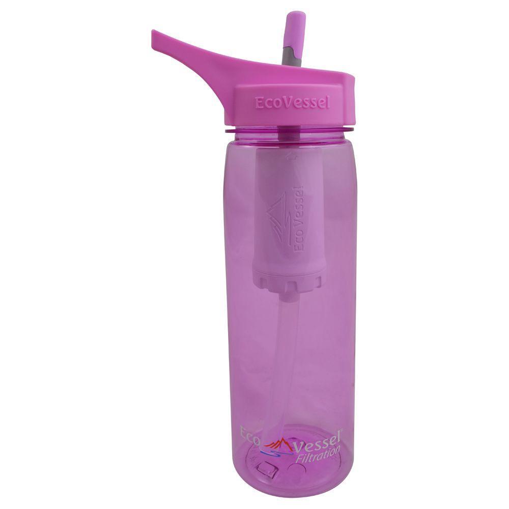 25 oz. Aqua Vessel Ultra Lite Tritan Filtration Bottle - Peony Pink