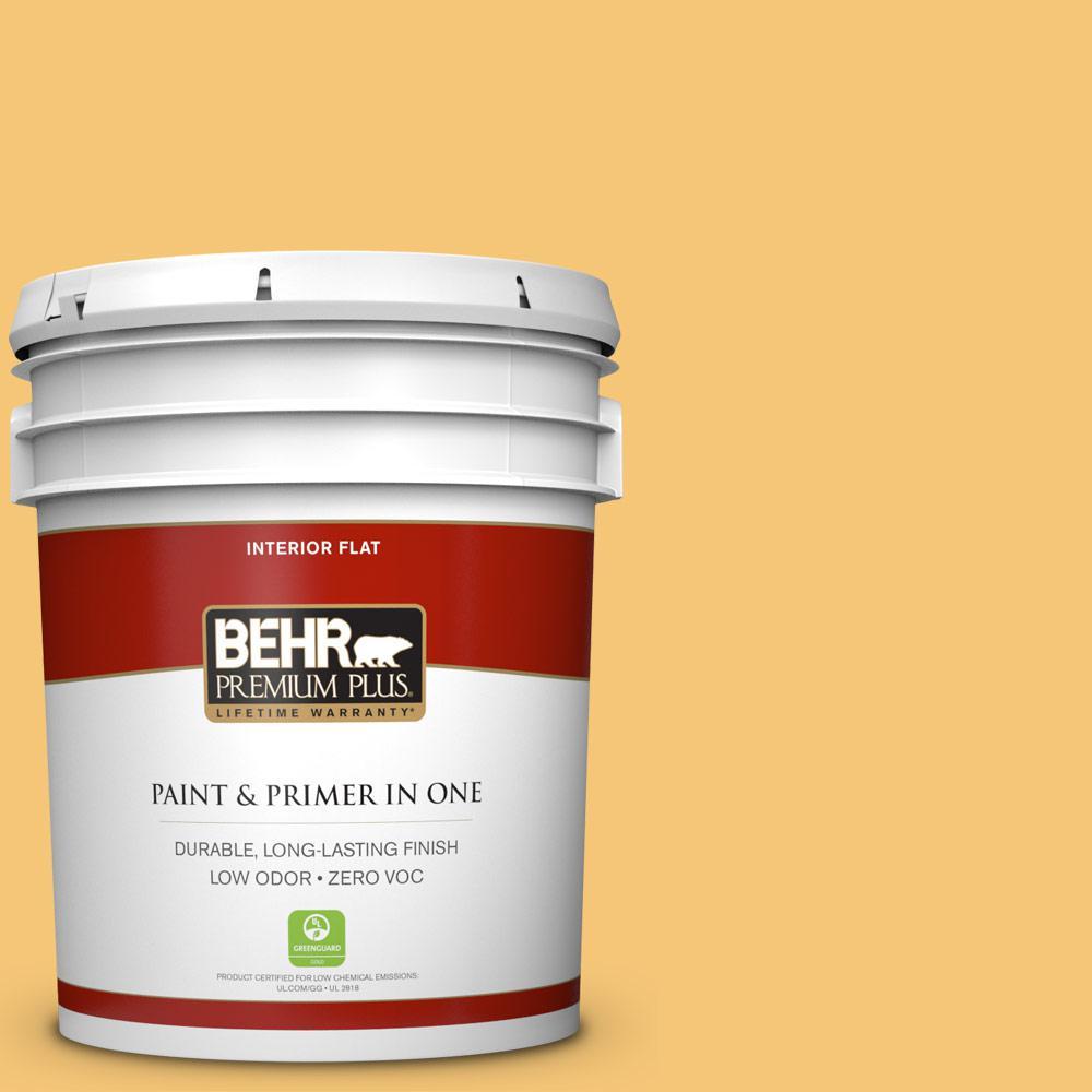 BEHR Premium Plus 5-gal. #T14-19 Sunday Afternoon Flat Interior Paint