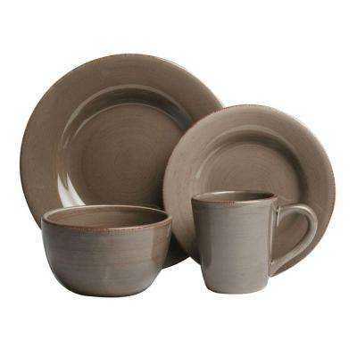 Sonoma 16-Piece Dinnerware Set in Warm Gray