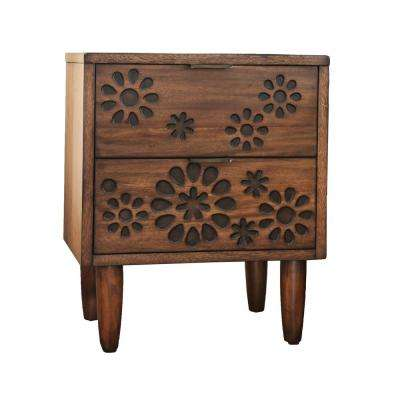 Chelsea 2-Drawer Dark Oak Nightstand
