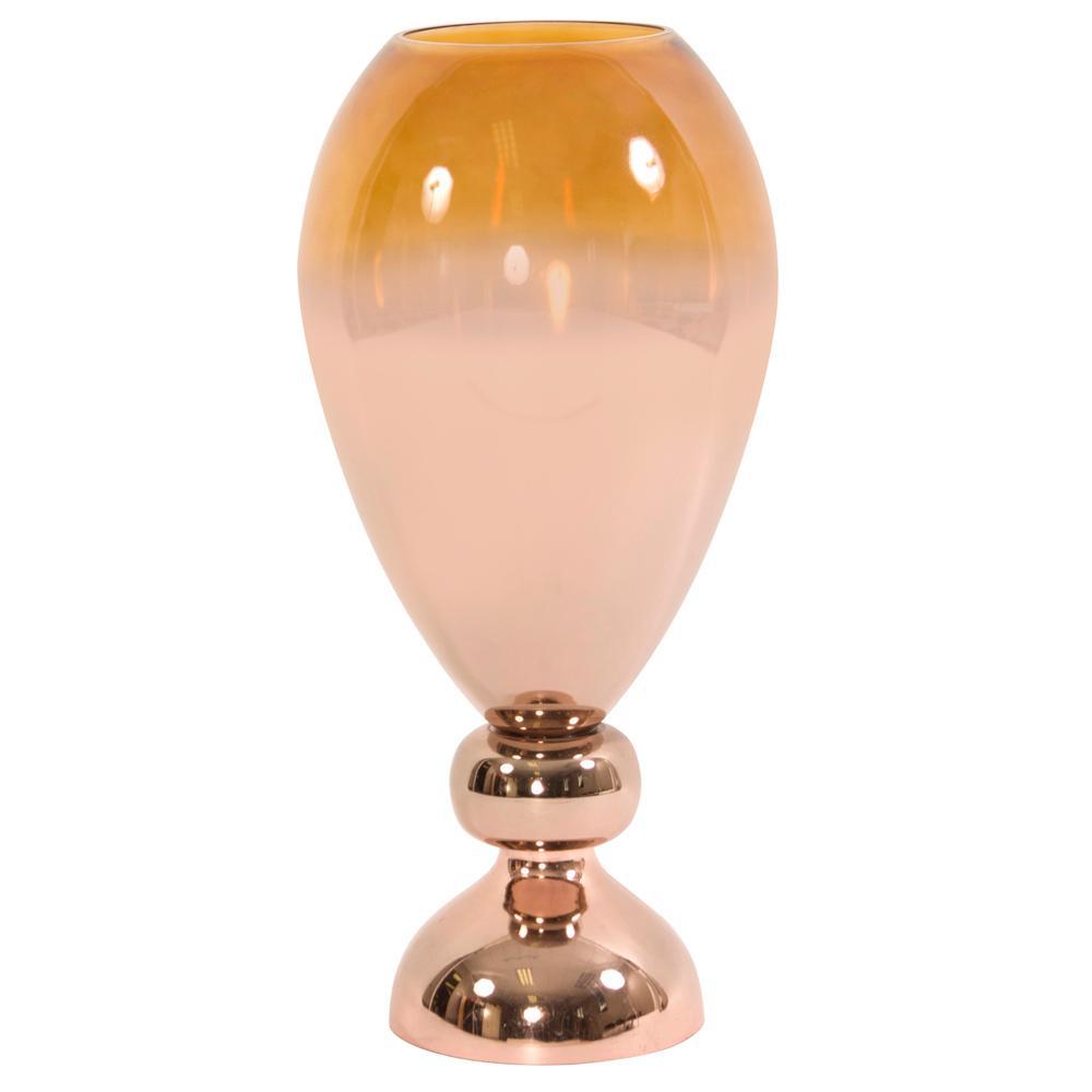 Metallic rose gold glass wine goblet decorative vase 93050 the metallic rose gold glass wine goblet decorative vase 93050 the home depot reviewsmspy