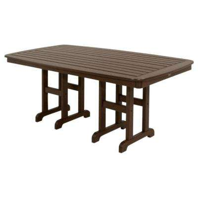 Yacht Club 37 in. x 72 in. Vintage Lantern Patio Dining Table