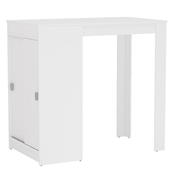 Unbranded Naugatuck White Counter Height Dining Table 120934860005 The Home Depot