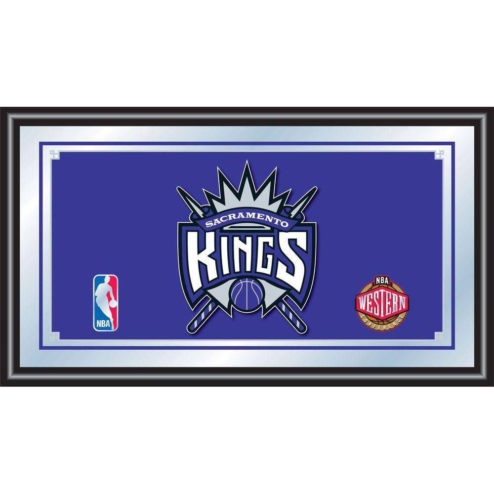 null Sacramento Kings NBA 15 in. x 26 in. Black Wood Framed Mirror