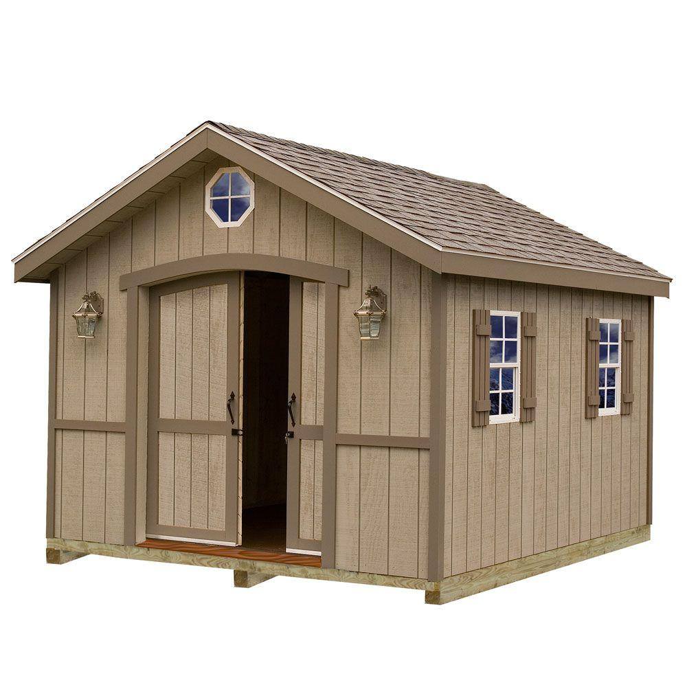 Best barns cambridge 10 ft x 12 ft wood storage shed kit for Garden shed 5 x 4