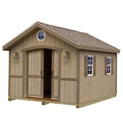 Cambridge 10 ft. x 12 ft. Wood Storage Shed Kit with Floor Including 4 x 4 Runners