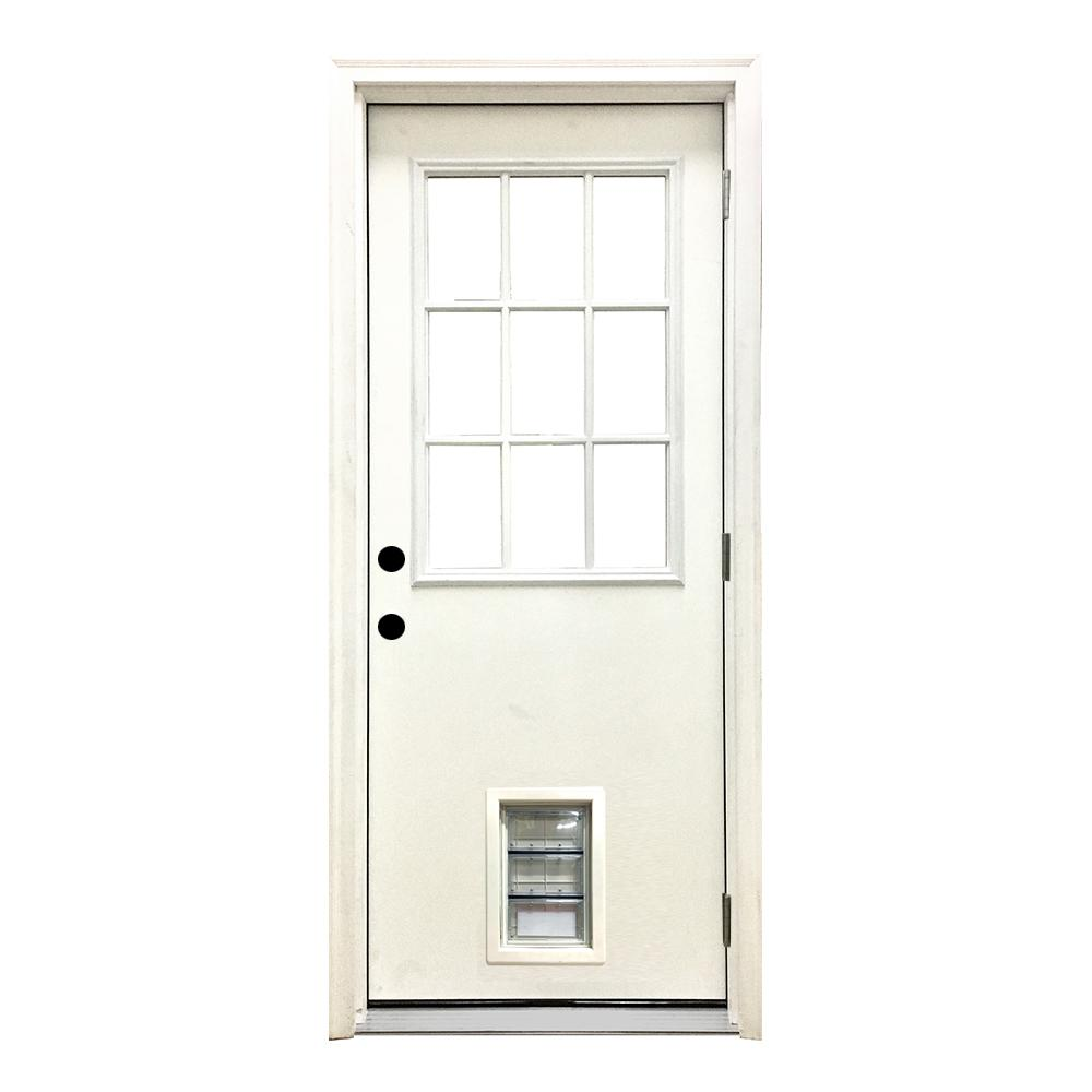 24 Inch Exterior Door Home Depot: Steves & Sons 36 In. X 80 In. Classic 9 Lite LHOS White