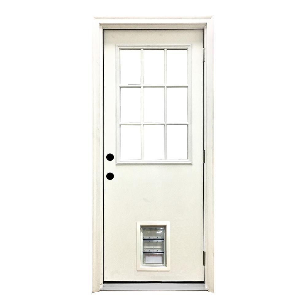 36 X 80 Exterior Prehung Left Handoutswing Fiberglass Doors