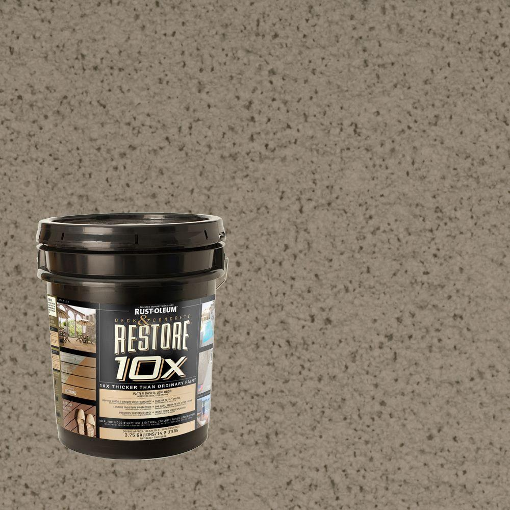 Rust-Oleum Restore 4-gal. Putty Deck and Concrete 10X Resurfacer