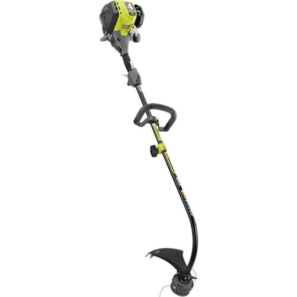 Ryobi 4 Cycle 30cc Attachment Capable Curved Shaft Gas Trimmer Ry4ccs The Home Depot